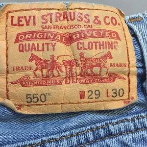 Levi's Men's 550 29 x 30 relaxed jeans